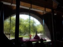 Water Wall (uses collected rain water)