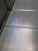 This was a floating/see through ramp that you had to walk on to get to different exhibits. It was the bane of our existence.