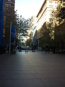 This is Martin Place and its in The Matrix and Superman/Batman (can't remember which)