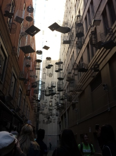 Art piece in a lane way (they're trying to compete with Melbourne)