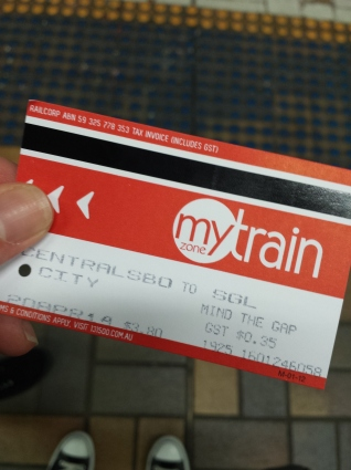 First Train ticket!