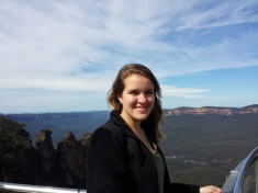 Steph at the Blue Mountains