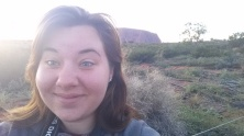Uluru: early morning selfie...sexy