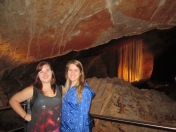 Steph and I at the Lace Curtain - Jenolan Caves