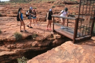 Kings Canyon: and everyone else walking arcross