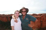 Kings Canyon: Steph with our tour guide Mat