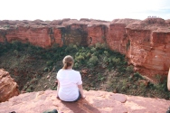 Kings Canyon: Steph living on the edge...