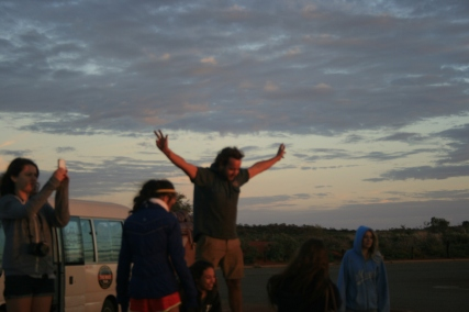 Uluru: Mat conducting the Sunrise